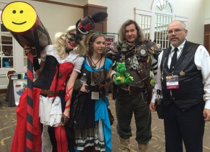 Steampunk cosplay with Harley Quinn