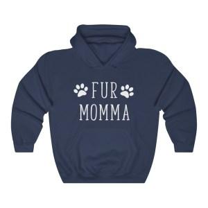 Fur Mama Hoodie Dark Blue