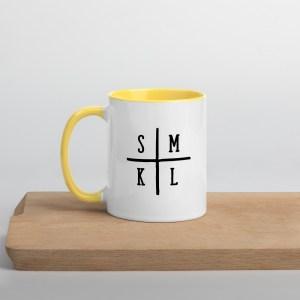 Initials Coffee Mug - Yellow Inside