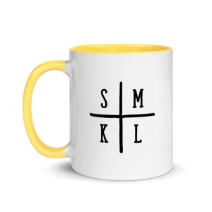 Initials Coffee Mug - Yellow Inside