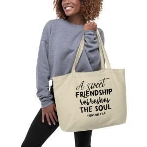 Proverbs - Large Tote Bag - Bible Verse