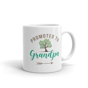 promoted to grandpa white coffee mug