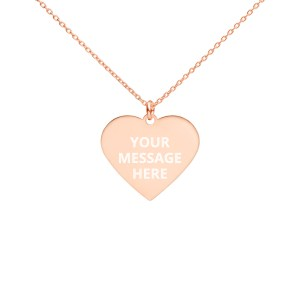engraved-silver-heart-chain-necklace-18k-rose-gold-coating