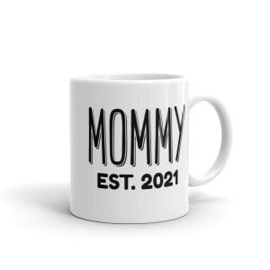 mommy est 2021 coffee mug