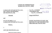 Judge Blocks Cincy Billboard Tax Citing First Amendment