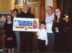 Fr. Dennis Cousens, 1995 with John DeFriend and others.