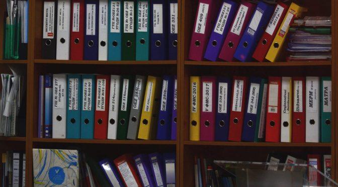 Shelf of books.
