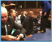 Members of Congress sit-in via social media