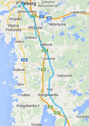 Bedste rute fra Göteborg
