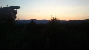 Solnedgang på Björns terasse