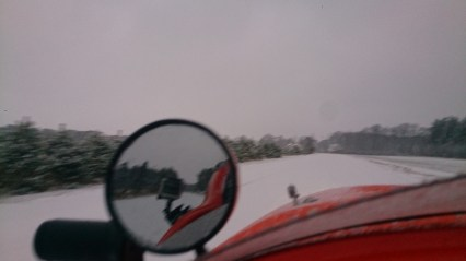Ride in the snow