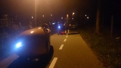 Strada og speedmachine nattur