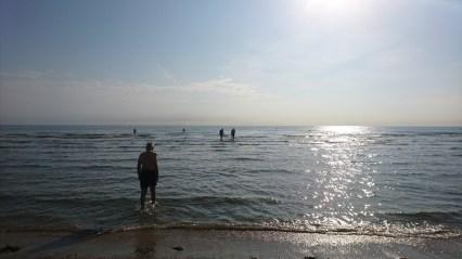 Endnu en nedkøling på en strand