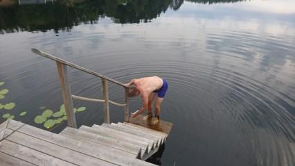 Steffen Alexander og Halfdan køles ned i sø