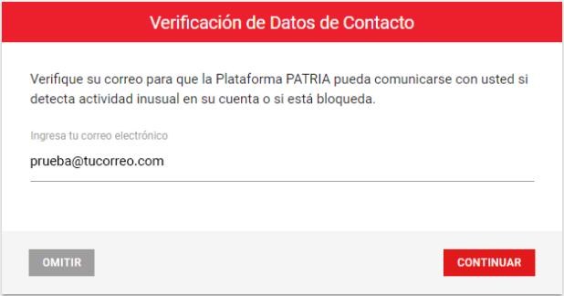 verificacion datos contactos plataforma patria org ve