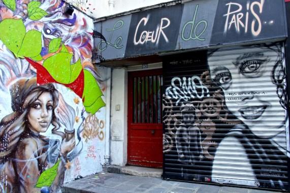 Un Gars dans la rue & Daria Aleks (à gauche)