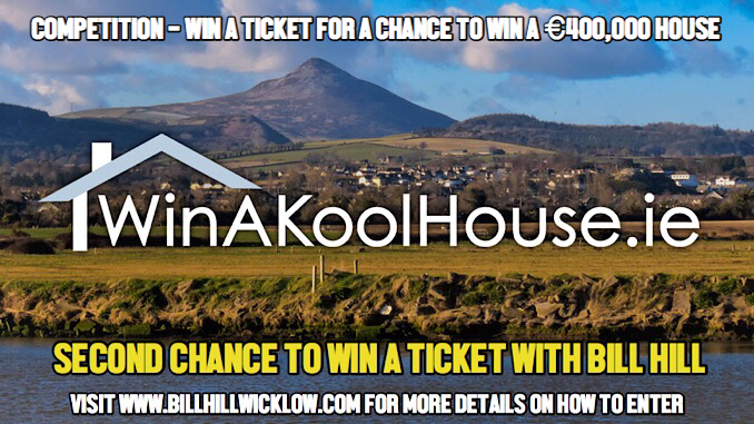 SECOND CHANCE TO WIN A TICKET FOR A €400,000 HOUSE IN KILCOOLE