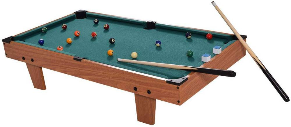 GYMAX Mini Pool Table, Tabletop Pool Set Billiards Game Set
