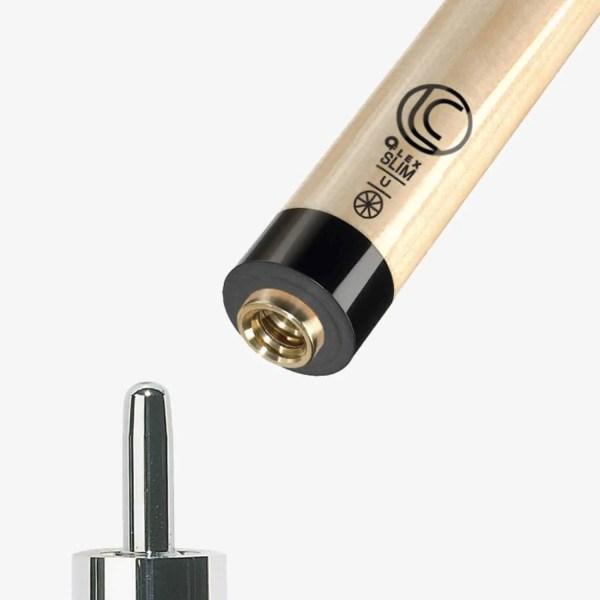 Lucasi Hybrid Zero Flex Slim Technology Pool Shaft, Black Collar, Uni-loc Pin