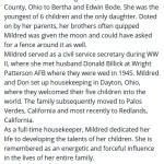 Billick, Mildred (1922-2015)