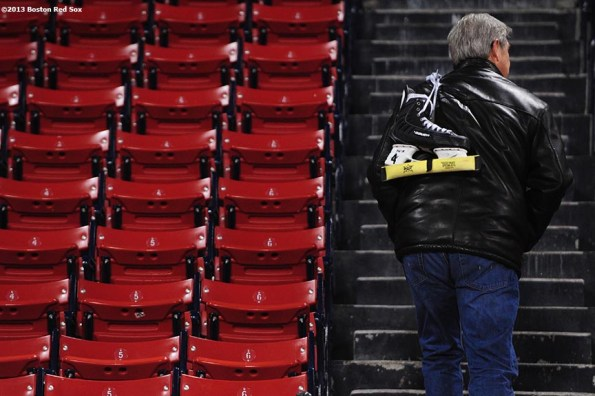 """""""Former Boston Bruins player Bobby Orr leaves Fenway Park after skating during an open rink session at Frozen Fenway Thursday, January 9, 2014 at Fenway Park in Boston, Massachusetts."""""""