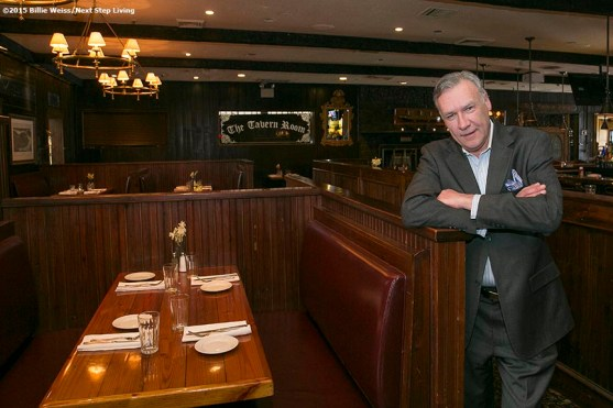 """""""Gerry Lynch, General Manager of the Stockyard Steakhouse Restaurant, poses for a portrait in the seating area of the Stockyard Steakhouse restaurant in Brighton, Massachusetts is shown Tuesday, February 10, 2015."""""""