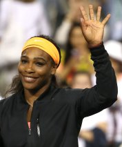 """""""Serena Williams announcers her retirement from the 2015 BNP Paribas Open in Indian Wells, California on Friday, March 20, 2015."""""""