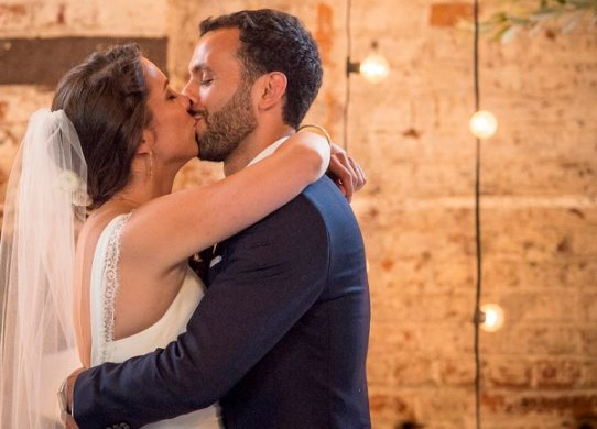 """""""The wedding of Chloe Scott-Giry and Nathan Einschlag at The Wythe Hotel and The Green Building in Brooklyn, New York Thursday, July 30, 2015."""""""