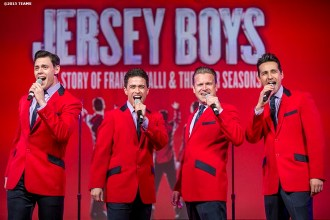 """""""The Jersey Boys perform at the General Session #3: A Lifetime in Sports and a Look Ahead during the TEAMS Conference & Expo Las Vegas, Nevada Thursday, November 12, 2015."""""""
