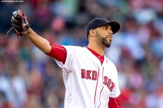 BOSTON, MA - JUNE 14: David Price #24 of the Boston Red Sox reacts after allowing a two-run home run during the first inning of a game against the Baltimore Orioles on June 14, 2016 at Fenway Park in Boston, Massachusetts. (Photo by Billie Weiss/Boston Red Sox/Getty Images) *** Local Caption *** David Price