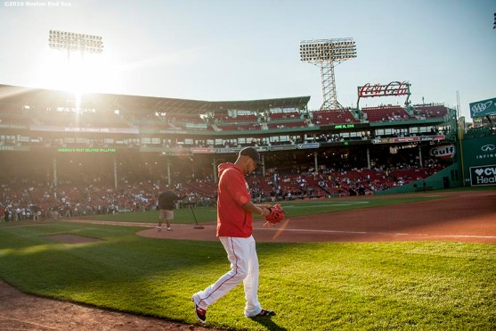 BOSTON, MA - JUNE 16: Eduardo Rodriguez #52 of the Boston Red Sox walks toward the bullpen before a game against the Baltimore Orioles on June 16, 2016 at Fenway Park in Boston, Massachusetts. (Photo by Billie Weiss/Boston Red Sox/Getty Images) *** Local Caption *** Eduardo Rodriguez