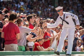 BOSTON, MA - JUNE 19: Hats off to Heroes during a game between the Boston Red Sox and t the Seattle Mariners on June19, 2016 at Fenway Park in Boston, Massachusetts. (Photo by Billie Weiss/Boston Red Sox/Getty Images) *** Local Caption ***