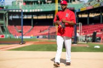 BOSTON, MA - JULY 28: Eduardo Nunez #36 of the Boston Red Sox walks onto the field before a game against the Kansas City Royals on July 28, 2017 at Fenway Park in Boston, Massachusetts. (Photo by Billie Weiss/Boston Red Sox/Getty Images) *** Local Caption *** Eduardo Nunez