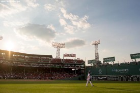 BOSTON, MA - AUGUST 1: Chris Sale #41 of the Boston Red Sox walks to the bullpen before a game against the Cleveland Indians on August 1, 2017 at Fenway Park in Boston, Massachusetts. (Photo by Billie Weiss/Boston Red Sox/Getty Images) *** Local Caption *** Chris Sale