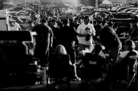 Fans tailgate during the opening game of the 2017 NFL season between the New England Patriots and Kansas City Chiefs at Gillette Stadium in Foxborough, Mass. on Sept. 7, 2017. (Photo by Billie Weiss/The Players' Tribune)