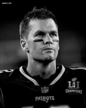 Tom Brady #12 of the New England Patriots reacts during the opening game of the 2017 NFL season against the Kansas City Chiefs at Gillette Stadium in Foxborough, Mass. on Sept. 7, 2017. (Photo by Billie Weiss/The Players' Tribune)