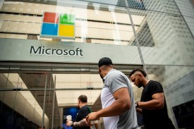 September 17, 2018, New York City, NY: Boston Red Sox catcher Christian Vazquez, shortstop Xander Bogaerts, and pitcher Eduardo Rodriguez walk down the street during a visit to the Microsoft gaming studio in New York City, New York Monday, September 17, 2018. (Photo by Billie Weiss/Boston Red Sox)