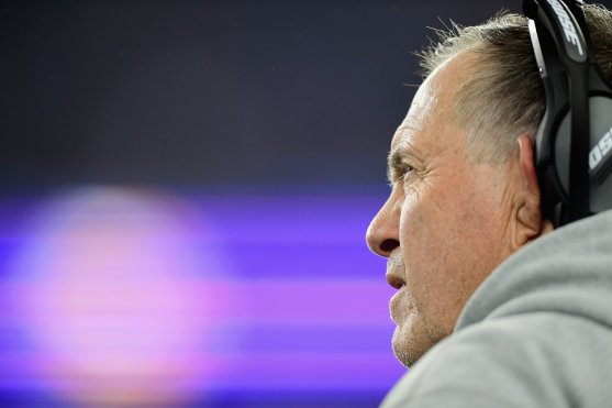 FOXBOROUGH, MA - DECEMBER 02: Head coach Bill Belichick of the New England Patriots looks on during the game against the Minnesota Vikings at Gillette Stadium on December 2, 2018 in Foxborough, Massachusetts. (Photo by Billie Weiss/Getty Images) *** Local Caption *** Bill Belichick