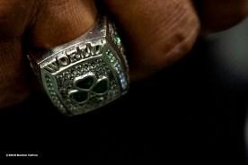 January 24, 2019 , Boston, MA: Boston Celtics Point Guard Brad Wanamaker and former Boston Celtics Dana Barros attend a Fit For A Cause event at Boston Scientific in Marlborough, Massachusetts Thursday, January 24, 2019. (Photo by Billie Weiss/Boston Celtics)
