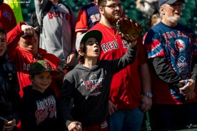 SEATTLE, WA - MARCH 28: Fans of the Boston Red Sox cheer before the 2019 Opening day game against the Seattle Mariners at T-Mobile Park in Seattle, Washington on March 28, 2019. (Photo by Billie Weiss/Boston Red Sox/Getty Images) *** Local Caption ***