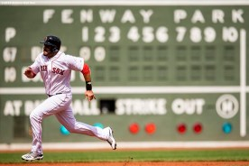 BOSTON, MA - APRIL 14: J.D. Martinez #28 of the Boston Red Sox runs to third base during the first inning of a game against the Baltimore Orioles on April 14, 2019 at Fenway Park in Boston, Massachusetts. (Photo by Billie Weiss/Boston Red Sox/Getty Images) *** Local Caption *** J.D. Martinez