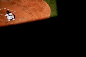 BOSTON, MA - JUNE 12: Christian Vazquez #7 of the Boston Red Sox catches during the fifth inning of a game against the Texas Rangers on June 12, 2019 at Fenway Park in Boston, Massachusetts. (Photo by Billie Weiss/Boston Red Sox/Getty Images) *** Local Caption *** Christian Vazquez
