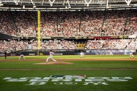 LONDON, ENGLAND - JUNE 29 : Rick Porcello #22 of the Boston Red Sox delivers during the first inning of game one of the 2019 Major League Baseball London Series against the New York Yankees on June 29, 2019 at West Ham London Stadium in London, England. (Photo by Billie Weiss/Boston Red Sox/Getty Images) *** Local Caption *** Rick Porcello