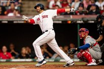 CLEVELAND, OH - JULY 09: J.D. Martinez #28 of the Boston Red Sox bats during the second inning of the 2019 Major League Baseball All-Star Game at Progressive Field on July 9, 2019 in Cleveland, Ohio. (Photo by Billie Weiss/Boston Red Sox/Getty Images) *** Local Caption *** J.D. Martinez