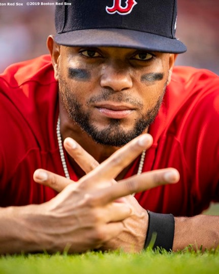 BOSTON, MA - AUGUST 17: Xander Bogaerts #2 of the Boston Red Sox poses before a game against the Baltimore Orioles on August 17, 2019 at Fenway Park in Boston, Massachusetts. (Photo by Billie Weiss/Boston Red Sox/Getty Images) *** Local Caption *** Xander Bogaerts