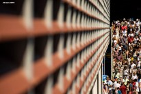 August 29, 2019, New York City, NY: Fans exit Louis Armstrong Stadium during the 2019 US Open Tennis Championships at the Billie Jean King National Tennis Center in New York, New York Thursday, August 29, 2019. (Photo by Billie Weiss/US Open Tennis Championships)