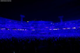 September 13, 2019 , Boston, MA: A general view during a concert by The Who at Fenway Park in Boston, Massachusetts Friday, September 13, 2019. (Photo by Billie Weiss/Boston Red Sox)