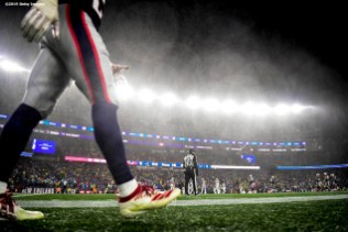 FOXBOROUGH, MA - NOVEMBER 24: A general view during a game between the New England Patriots and the Dallas Cowboys at Gillette Stadium on November 24, 2019 in Foxborough, Massachusetts. (Photo by Billie Weiss/Getty Images) *** Local Caption ***