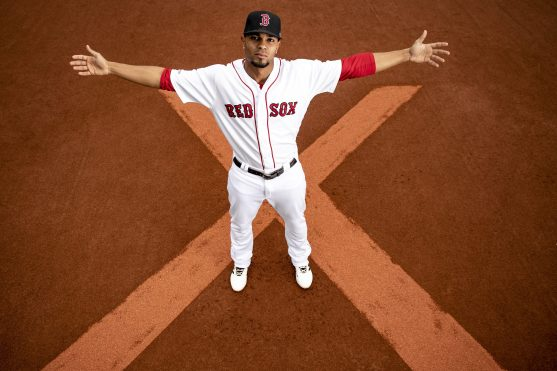 BOSTON, MA - APRIL 30: Xander Bogaerts #2 of the Boston Red Sox poses for a portrait before a game against the Oakland Athletics on April 30, 2019 at Fenway Park in Boston, Massachusetts. (Photo by Billie Weiss/Boston Red Sox/Getty Images) *** Local Caption *** Xander Bogaerts