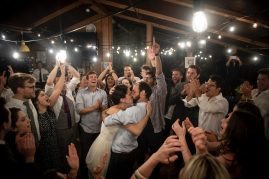 May 26, 2019 , Waitsfield, VT: The wedding of Thomas Battey and Hilary Strong at Mad River Glen in Waitsfield, Vermont Sunday, May 26, 2019. (Photo by Billie Weiss)